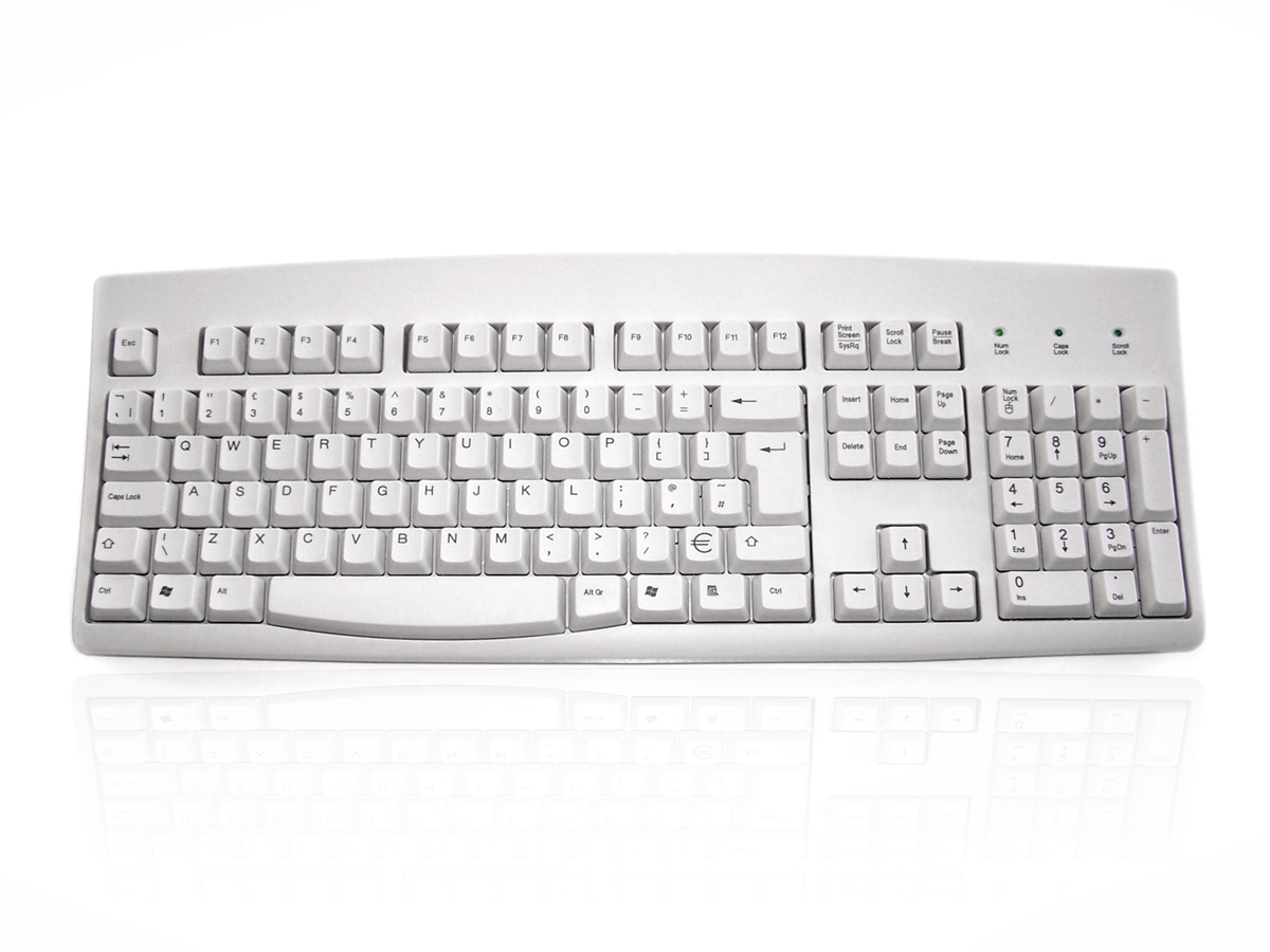 Accuratus 260 - PS/2 Full Size Professional Keyboard with Contoured Full  Height Touch Typing Keys & Patented One Touch Euro Key