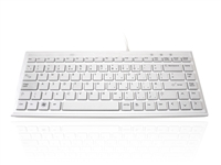 KYBAC395-USBWHT - Accuratus 395 White - USB Super Slim Mini Keyboard with Square Modern Keys in Pure White