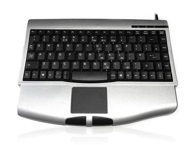 KYBAC540-PS2SILV - Accuratus 540 - PS/2 Professional Mini Keyboard with Touchpad