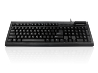KYBKC-108S-UB - Accuratus 108S - USB full layout Standard size keyboard with Smart card reader