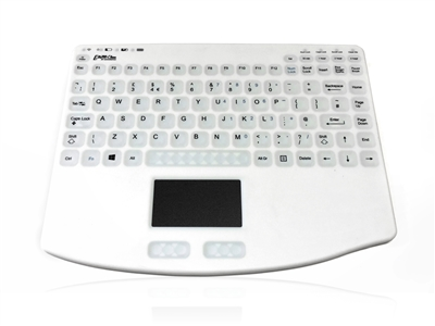KYBNA-RF-540CV3W - Accuratus AccuMed 540 RF - RF 2.4GHz Wireless & Rechargeable Mini Sealed IP67 Antibacterial Clinical / Medical Keyboard with Touchpad