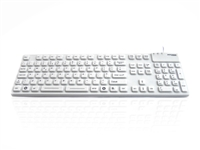 KYBNA-SIL-105CWH - Accuratus AccuMed 105 - USB & PS/2 105 Key Sealed IP67 Antibacterial Clinical / Medical Keyboard