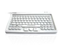 KYBNA-SIL-MINCWH - Accuratus AccuMed Mini - USB Mini Sealed IP67 Antibacterial Clinical / Medical Keyboard with Mousepad