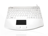 KYBNA-SIL540CV2W - Accuratus AccuMed 540 V2 - USB Mini Sealed IP67 Antibacterial Clinical / Medical Keyboard with Large Touchpad