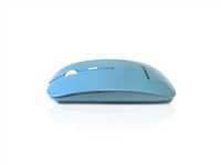 MOU-IMAGE-RF-LIB - Accuratus Image RF - Wireless RF 2.4Ghz Sleek Slim Glossy Finish Optical Mouse with Nano Receiver - Light Blue