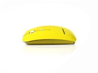 MOU-IMAGE-RF-YEL - Accuratus Image RF - Wireless RF 2.4Ghz Sleek Slim Glossy Finish Optical Mouse with Nano Receiver - Yellow