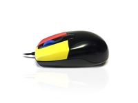 MOU-JUNIOR-BLK - Accuratus Junior Mouse - USB Medium Sized Junior Antibacterial Mouse with Coloured Easy Learn Buttons & Scroll Wheel