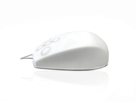 MOUNA-SIL-CWH - Accuratus AccuMed Mouse - USB & PS/2 Full Size Sealed IP67 Antibacterial Medical Mouse