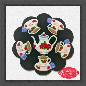 Tea Times Five Candle Mat Penny Rug