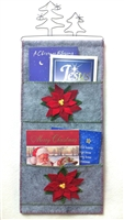 POINSETTIA MULTI-POCKET CHRISTMAS CARD HOLDER KIT
