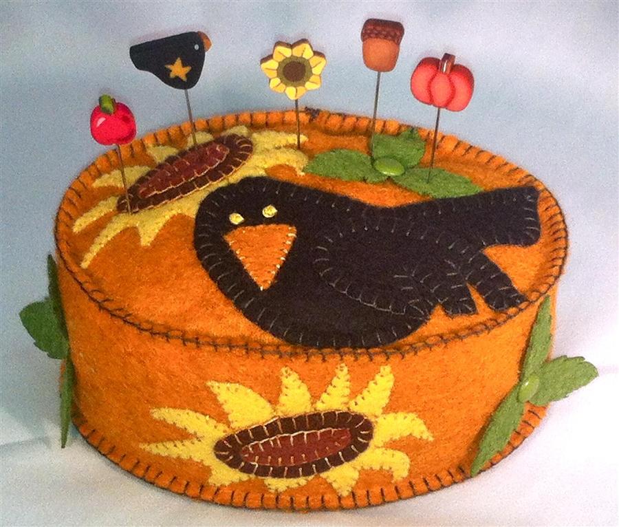 i love to crow pincushion wool felt kit