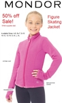 Mondor 4482 Figure Skating Jacket - Now available in Blue, Pink and Black.