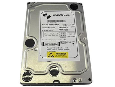 w// 1 Year Warranty PC, Surveillance, NAS White Label 2TB 8MB Cache 7200RPM SATA 3.0Gb//s 3.5 Desktop Hard Drive