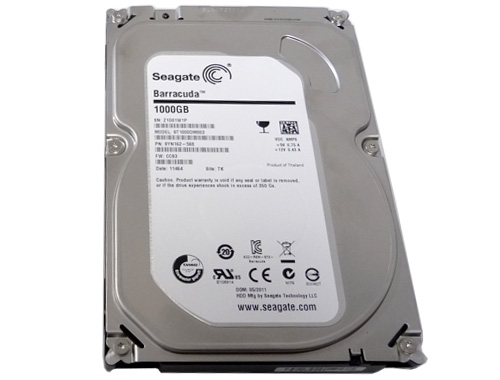 SEAGATE Desktop HDD BARRACUDA 1TB hard drive SATA INTERNAL 7200 RPM