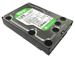 "Western Digital WD Green WD30EZRX 3TB IntelliPower 64MB Cache SATA 6.0Gb/s 3.5"" Internal Hard Drive w/2 Year Warranty"