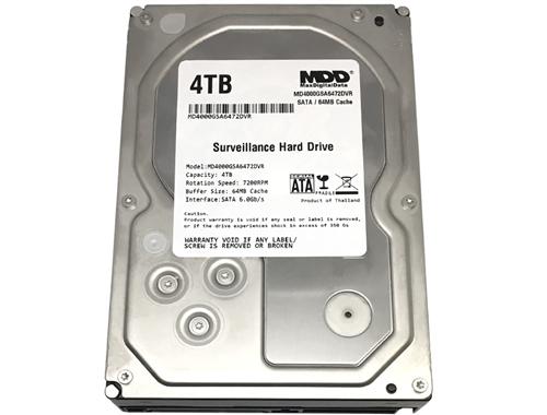 MD4000GSA6472DVR Renewed MaxDigitalData 4TB 64MB Cache 7200PM SATA 6.0Gb//s 3.5 Internal Surveillance CCTV DVR Hard Drive - w// 2 Year Warranty