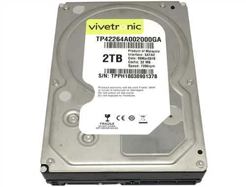 Vivetronic 2tb 32mb Cache 7200pm Sata 3 0gb S 3 5 Internal