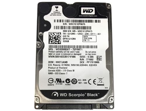 Western Digital BLACK WD 320GB 2.5 7200RPM SATA Laptop Hard Drive GAMING HDD