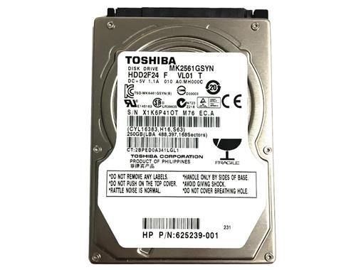 "SATA 2.5/'/' notebook hard drive Toshiba 250GB Internal 5400RPM 2.5/"" MK2565GSX"
