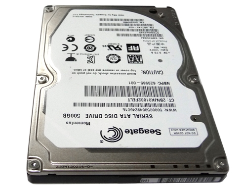 Seagate Momentus 500GB (ST9500423AS) 7200RPM SATA 3Gb/s 16MB Cache 2 5