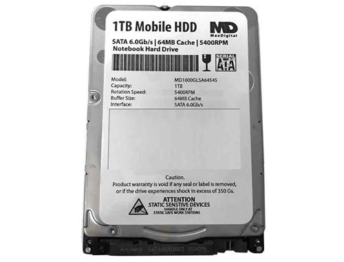 MaxDigital 1TB 5400RPM 64MB Cache 7mm SATA 60Gb S 25 Mobile HDD Notebook Hard Drive
