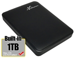 Avolusion 1TB B USB 3.0 Portable External Hard Drive (MacOS Pre-Formatted)  HD250U3-Z1 - Retail w/2 Year Warranty