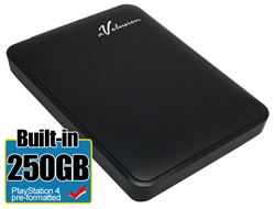 Avolusion 250GB USB 3.0 Portable External PS4 Hard Drive (PS4 Pre-Formatted)  HD250U3-Z1 - Retail w/2 Year Warranty