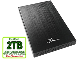 Avolusion HD250U3 2TB USB 3.0 Portable Slim External Gaming XBOX One Gaming Hard Drive - Black (XBOX Pre-Formatted) - Retail w/2 Year Warranty