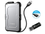 Avolusion ineo (C2580c-960G+64G) IP66 Waterproof & Military-Grade Shockproof Rugged 960GB (1TB) USB 3.1 Portable External SSD + Free 64GB USB Flash Drive [Ultra Speed R/W up to 550MB/s] - 6 Year Warranty