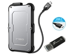 Avolusion ineo (C2580c-480G+32G) IP66 Waterproof & Military-Grade Shockproof Rugged 480GB (512GB) USB 3.1 Portable External SSD + Free 32GB USB Flash Drive [Ultra Speed R/W up to 550MB/s] - 6 Year Warranty