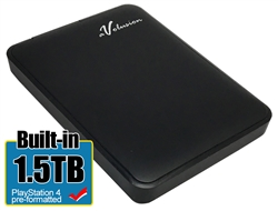 Avolusion 1.5TB USB 3.0 Portable External Hard Drive (PS4 Pre-Formatted) HD250U3-Z1-1.5TB-PS - 2 Year Warranty