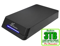 Avolusion HDDGear Pro 3TB USB 3.0 External Gaming Hard Drive (for XBOX ONE, XBOX ONE S, XBOX ONE X) - 2 Year Warranty