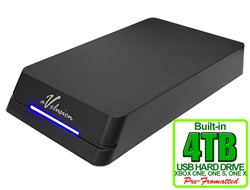 Avolusion HDDGear Pro 4TB USB 3.0 External Gaming Hard Drive (for XBOX ONE, XBOX ONE S, XBOX ONE X) - 2 Year Warranty
