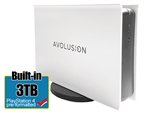 Avolusion PRO-5X Series 3TB USB 3.0 External Gaming Hard Drive for PS4 Original, Slim & Pro (White) - 2 Year Warranty
