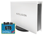 Avolusion PRO-5X Series 6TB USB 3.0 External Gaming Hard Drive for PS4 Original, Slim & Pro (White) - 2 Year Warranty