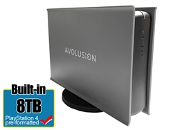 Avolusion PRO-5X Series 8TB USB 3.0 External Gaming Hard Drive for PS4 Original, Slim & Pro (Grey) - 2 Year Warranty