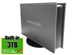 Avolusion PRO-5X Series 3TB USB 3.0 External Gaming Hard Drive for XBOX One Original, S & X (Grey) - 2 Year Warranty