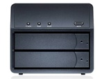 Sans Digital MobileSTOR MS2UTN+B 2 Bay SATA to eSATA/USB 2.0 RAID 0 / 1 / SAFE33 / 50 Enclosure (Black) - Retail