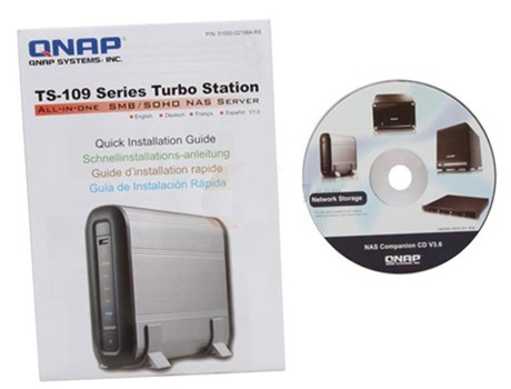 QNAP Turbo NAS TS-109 Pro II All-in-one Network Storage Server (NAS) Server  for SMB, SOHO and Home Users - Retail