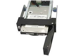 "iStarUSA T5-SA 1x5.25"" Bay Trayless Anti-vibration SATA Mobile Rack - Black"