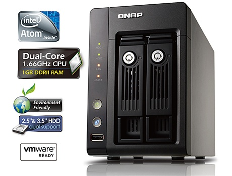 QNAP 2-Terabyte (2TB) Turbo NAS TS-259 Pro 2-Bay All-in-one Superior  Performance Network Attached Storage Server with iSCSI for Business -  (Powered by