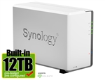 Synology DS216J 12-Terabyte (12TB) 2-Bay Gigabit iSCSI NAS Server for Small Office & Home (Powered by new Seagate 6TB ST6000VN0041 NAS Hard Drives x 2) - Retail - 2 Year Warranty