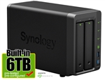 Synology DS716+II 6-Terabyte (6TB) High-performance & Scalable 2-Bay Gigabit iSCSI All-in-one RAID 0/1 NAS Server for Home and Small Business (Powered by new Seagate 3TB ST3000VN000 Hard Drives x 2) - Retail w/ 2-Year Warranty