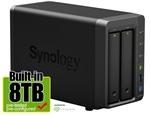 Synology DS716+II 8-Terabyte (8TB) High-performance & Scalable 2-Bay Gigabit iSCSI All-in-one RAID 0/1 NAS Server for Home and Small Business (Powered by new Seagate 4TB ST4000VN008 Hard Drives x 2) - Retail w/ 2-Year Warranty