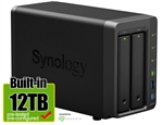 Synology DS716+II 12-Terabyte (12TB) High-performance & Scalable 2-Bay Gigabit iSCSI All-in-one RAID 0/1 NAS Server for Home and Small Business (Powered by new Seagate 6TB ST6000VN0041 Hard Drives x 2) - Retail w/ 2-Year Warranty