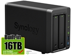 Synology DS716+II 16-Terabyte (16TB) High-performance & Scalable 2-Bay Gigabit iSCSI All-in-one RAID 0/1 NAS Server for Home and Small Business (Powered by new Seagate 8TB ST8000VN0022 Hard Drives x 2) - Retail w/ 2-Year Warranty