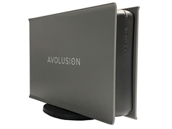 Avolusion HDDGear PRO-5X Series USB 3.0 External Gaming Hard Drive Enclosure - Gunmetal Grey (HDDGU3-PRO5X-GY) - Retail - 2 Year Warranty
