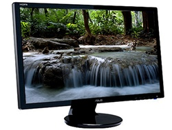 "ASUS VE245H Black 24"" 5ms HDMI Widescreen TFT-LCD Monitor 250 cd/m2 (50000:1) Built in Speakers - Factory Recertified w/ 90-days warranty"