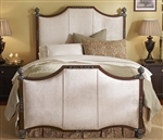 Kent Upholstered Iron Bed by Wesley Allen