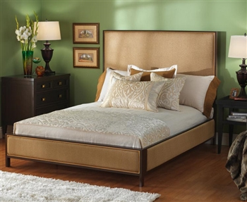 Mason Upholstered Iron Bed by Wesley Allen